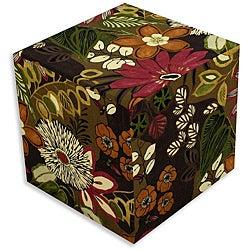 Lilith Chocolate Cube Foam Ottoman