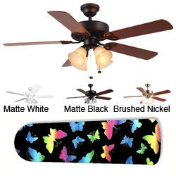 New Image Concepts 4-light 'Rainbow Butterfly' Ceiling Fan