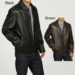 Collezione Men's New Zealand Lamb Leather Banded Jacket