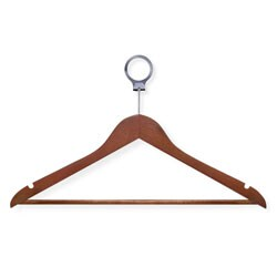 Honey Can Do Cherry Wood Hotel Suit Hangers (Case of 24)