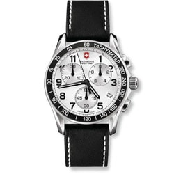 Swiss Army Men's 'Chrono Classic' Black Leather Strap Watch