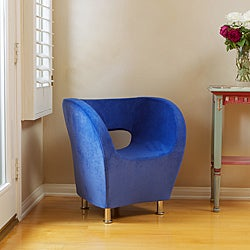 Christopher Knight Home Modern Blue Microfiber Accent Chair