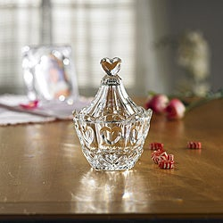 Fifth Avenue Crystal Sweetheart Lidded Candy Jar