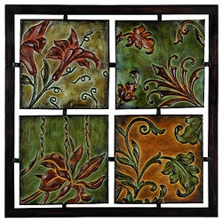 Naples Flowers and Vines Metal Wall Art