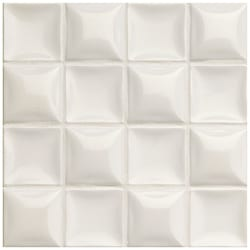 Somertile 7.875x7.875-in Summit Nacar Glazed Ceramic Wall Tiles (Case of 18)