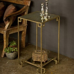 Steel Cubist Brass Display Table (India)