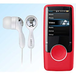 'Coby' Red 4GB 1.8-inch LCD MP3 Player