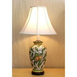 Fruit and Leaf Ceramic Table Lamp