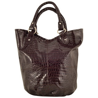 Parinda Women&#39;s Adria Croco Embossed Faux Leather Travel Tote