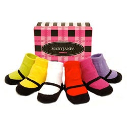 Trumpette Mary Jane Brights Infant Socks Box Set