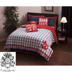 English Laundry Stock Port Queen-size Duvet Cover Set