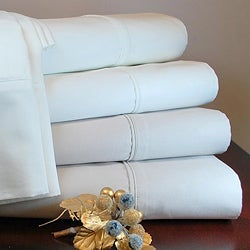 Egyptian Cotton Sateen Solid 600 Thread Count Queen/ King-size Sheet Set