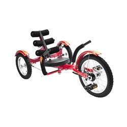 Mobo Mobito Red 16-inch Ultimate 3-wheeled Cruiser