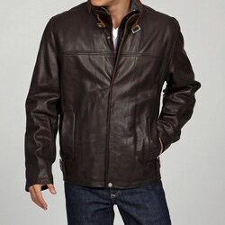 Andrew Marc Men's Cow Naturalle Leather Jacket FINAL SALE