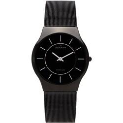 Skagen Men's Black Titanium Mesh Bracelet Watch