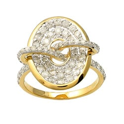Beverly Hills Charm 14k Yellow Gold 1ct TDW Diamond Oval Ring (H-I, I2)
