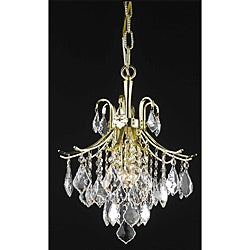 Crystal Gold 3-light 64924 Collection Chandelier