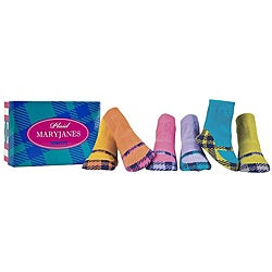 Trumpette Plaid Mary Janes Infant Socks (Pack of 6)