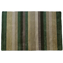 Jovi Home Tailored Multi Stripe Hand-tufted Rug (8'x11')