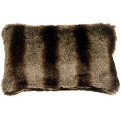 Pillow Decor Amur Wolf Faux Fur Throw Pillow