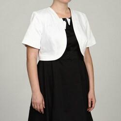 Jessica Howard Women's Plus Size Bolero Jacket FINAL SALE