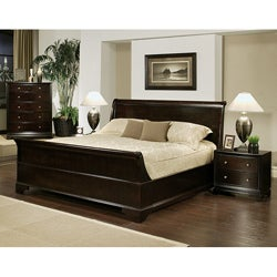 Abbyson Living Kingston 4-piece Espresso Sleigh Queen-size Bedroom ...