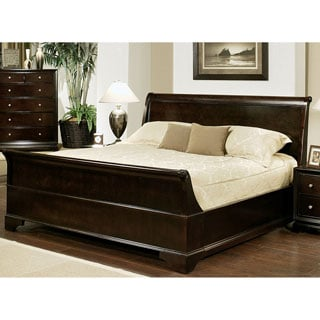 ABBYSON LIVING Kingston Espresso Sleigh King-size Bed