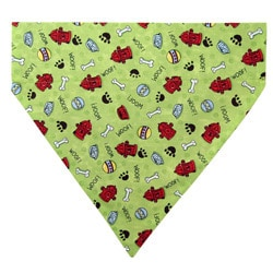 Ruff Stuff USA Green with Fire Hydrants Dog Collar Bandana