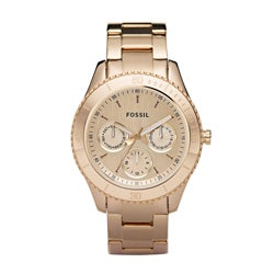 Fossil Women's 'Stella' Multifunction Rose-goldtone Dial Watch