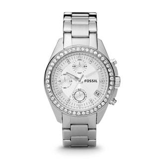 Fossil Women's ES2681 'Decker' Glitz Chronograph Stainless Steel Watch
