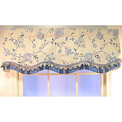 Belle Embroidery Floral and Striped Valance