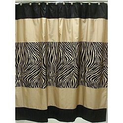  Zuma Zebra Shower Curtain and Hook Set