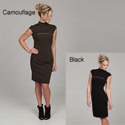 Marc New York Women's Mock Neck Chemise Dress