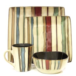 American Atelier Canyon Stripes 16-piece Dinnerware Set