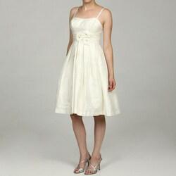 Eliza J Petite Rosette Ruche Waist Party Dress FINAL SALE
