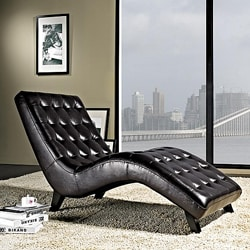 Abbyson Living Newport Bonded Leather Lounger