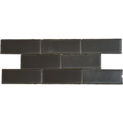Espresso Brown 3x8-inch Shiny Glass Tiles (Case of 67)