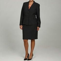 Calvin Klein Women's Black/ Charcoal 2-piece Skirt Suit