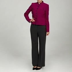 Calvin Klein Women's Berry/ Charcoal Pant Suit