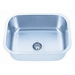 Somette Undermount Stainless Steel Single Bowl Kitchen Sink