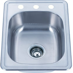Top Mount Stainless Steel Single Bowl Kitchen Sink