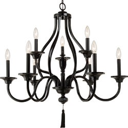Zaraha Collection 9-light Luxe Gloss Black Chandelier
