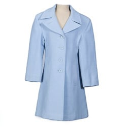 Stephanie Mathews Girl&#39;s Powder Blue Wool-blend Coat