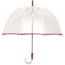 Tina T 48-inch Clear/Red Bubble Umbrella