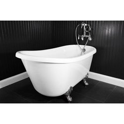 spa collection 54 inch swedish clawfoot tub and faucet pack