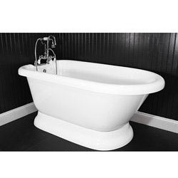 Spa Collection 59-inch Classic Style Pedestal Tub and Faucet Pack