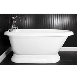 Spa Collection 53-inch Classic Style Pedestal Tub and Faucet Pack