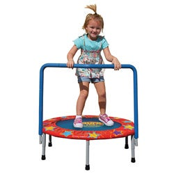 Pure Fun Kids 36-inch Mini Trampoline with Handrail