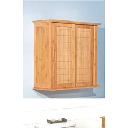 simple living sliding door bamboo wall cabinet 13809924