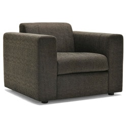 Barcelona Grey/ Dark Brown Fabric Chair